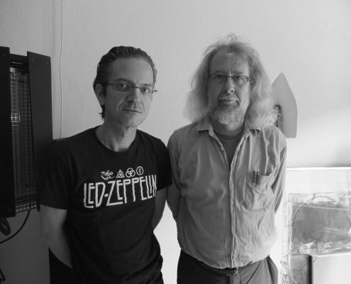 """Zauss im Nadelbergstudio nach der Mastering Session von """"Diafoia Leitmotiv Waves"""", Juli 2014"""