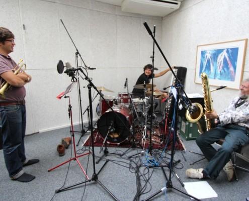 Markus Stauss und Freunde hatten eine grossartige Stimmung im Studio, 22. Sept. 2013